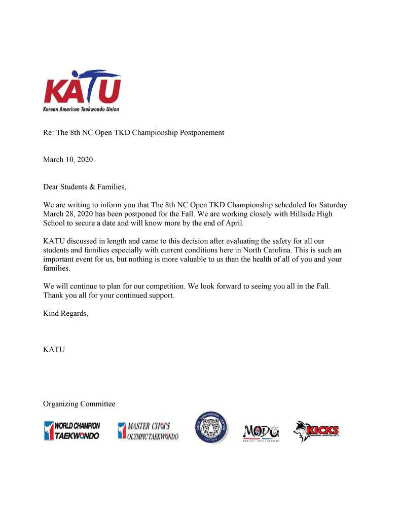 KATU Letter about the 8th Championship